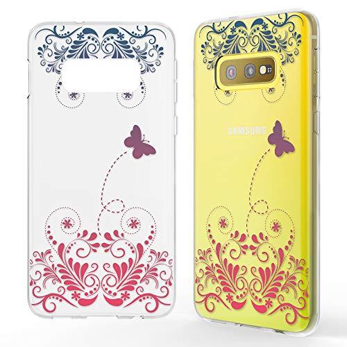NALIA Hülle kompatibel mit Samsung Galaxy S10e, Motiv Handyhülle Slim Silikon Case Cover Schutzhülle Dünn Durchsichtig, Etui Handy-Tasche Backcover Transparent Bumper, Designs:Butterfly