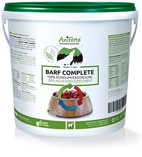 AniForte Barf Complete Pulver 1kg für Hunde, 100% Natur Rundumversorgung – Natürlich, Artgerecht und Ausgewogen, Hochwertiger Zusatz beim Barfen, Reich an Mineralstoffen,
