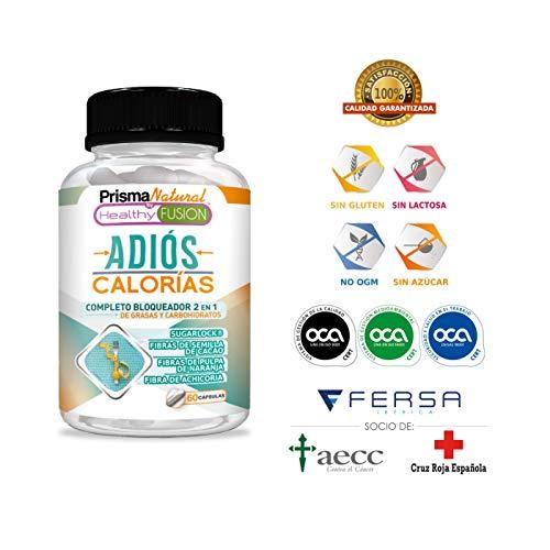 ADIÓS CALORIAS – Potente Bloqueador de Grasas y Carbohidratos - Para Una Pérdida de Peso Más Rápida y Efectiva - Salte de la Dieta Sin Remordimientos - 60 cápsulas de liberación rápida