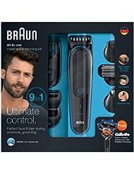 Braun MGK3080 Kit Polyvalent - Tondeuse de Précision9en1, Stylisation Barbe et Cheveux