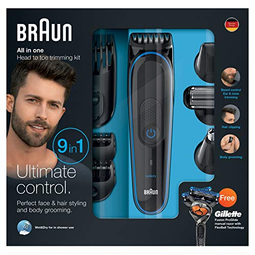 Braun MGK3080 Barbero Set de afeitado multifunción, color negro