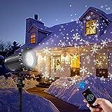 Led projektor weihnachten GreenClick LED Schneeflocke Projektor lichter outdoor mit Timing Fernbedienung und Schneefall 3 Modi IP65 wasserdichter für Außen und Innen Deko-8m Kabel/EU Adapter