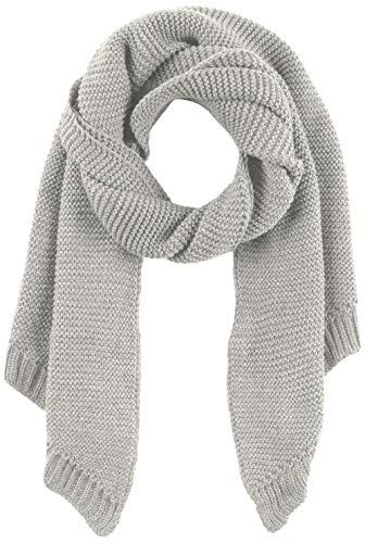 PIECES Damen Schal PCDACE Long Wool Scarf NOOS, Grau Light Grey Melange, One Size