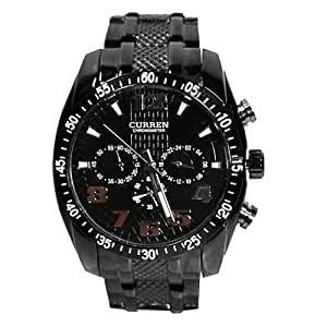 LolyShop - Montre Acier ALL Black CURREN - Couleur : Noir