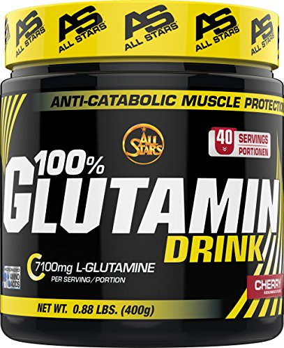 All Stars 100% Glutamin Drink, Kirsche, 1er Pack (1 x 400 g)
