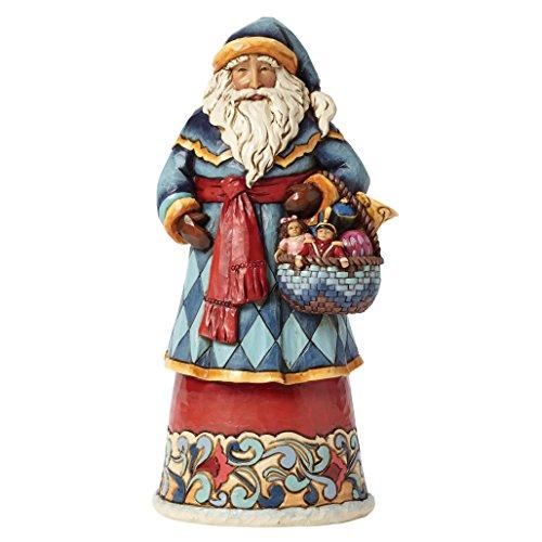 Hearwood Creek 4041065 Figurina Babbo Natale, Sacco di Gioccatoli Resina Santa, Disegno da Jim Shore, 25.5 cm