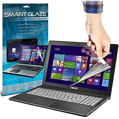 SmartGlaze ( Pack Of 10 ) ASUS N550JK 15.6 Touchscreen Laptop Protectores de pantalla del caso por encargo Crystal Clear LCD de Premium Packs Con paño de pulido y de