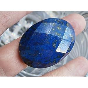 Ring Lapislazuli blau mit großem Stein facettiert als Luxus Geschenk statementring zum Hippy boho chic jeansblau