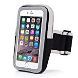 Sport Armband - Badalink Neopren Hülle + Sandwich-Mesh Laufsport Armband iPhone 6 / 6S Case mit Reflexstreifen und Reißverschluss-Etui für Übung Training