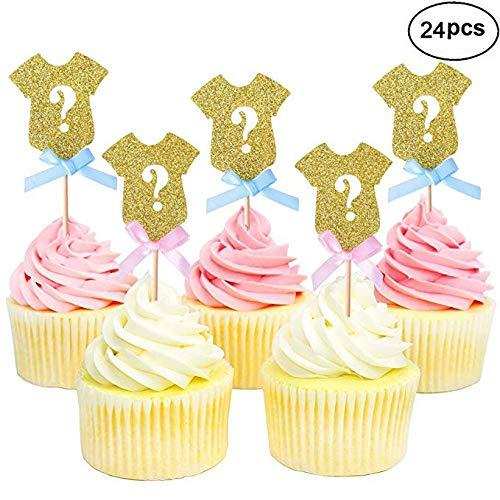 Ultra dünne Glitzer Geschlecht Reveal Cupcake Topper, enthüllen Geschlecht Baby Dusche Party Kuchen Lebensmittel Dekoration Supplies