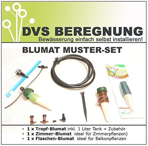Blumat Test Set: Tropf-Blumat, Zimmer-Blumat, Flaschen-Blumat für Balkon- und Gewächshaus-Bewässerung / Urlaubsbewässerung