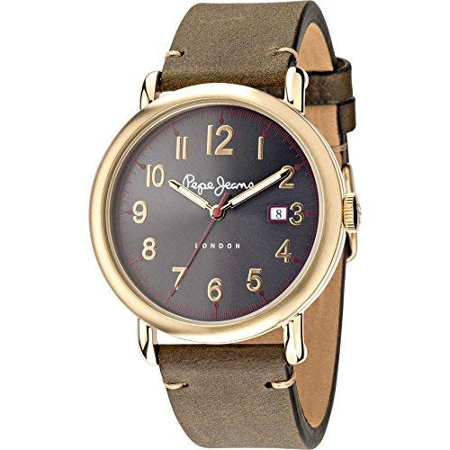 Pepe Jeans Men's CHARLIE Analogue Quartz Leather Watch Bracelet R2351105007
