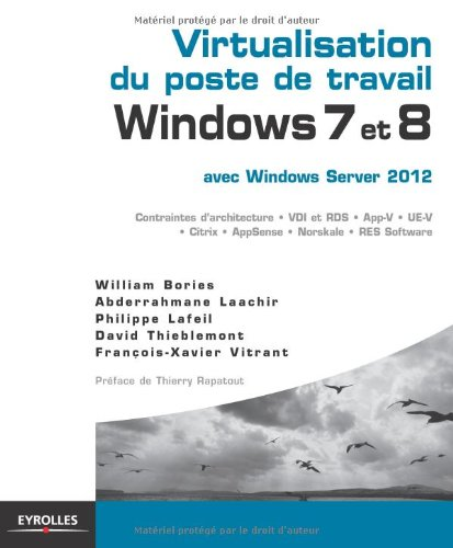 Virtualisation du poste de travail Windows 7 et 8, avec Windows Server 2012 par William Bories