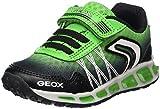Geox Jungen J Shuttle Boy B Sneaker, Schwarz (Black/Green), 35 EU
