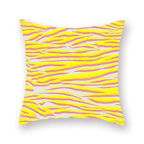 Gelbe Geometrische Gitterschreib-kuschelkissen Peach Samt Druck Kissen Kissen Cover 45cm*45cm (18