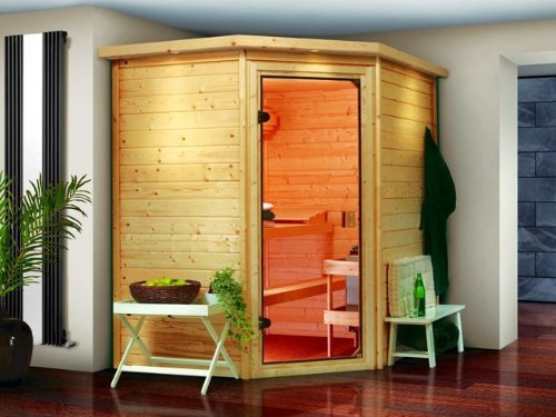 Karibu Holztechnik GmbH Sauna WOODFEELING Mia 38 mm