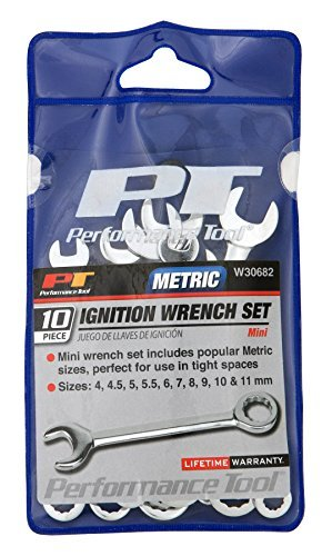 Performance Tool W30682 MET Ignition Wrench Set, 10 Piece by Performance Tool -