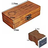 Kasit 30 Pcs / Set Capital letter Retro Stamp Wood Craft Box Alphabet Stamp