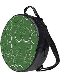 Snoogg Pink Hearts In White Bookbag Rounded Backpack Boys Girls Junior School Bag PE Shoulder Bag Lunch Kids Luggage