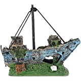 Fish Tank Ornamento del - SODIAL(R) Barco de Pesca del Ornamento del Acuario Decoracion Para Fish Tank, Dcoracion de Tanque de Pez