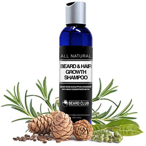 Bart und Haarwuchs Shampoo | Mit hochkonzentriertem Biotin | Mit dem Duft von Zedernholz, Eukalyptus...