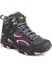 Cotswold Black / Pink Aggshill milieu Womens Boot de randonnée