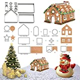 3D Christmas Gingerbread House Cookie Cutters for Holiday Winter & Christmas Cutters Kit