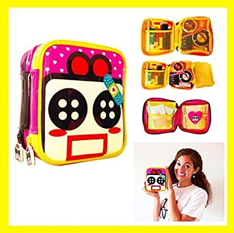 Cute Makeup Bag Cosmetic Organizer Toiletry Pencil Pouch Women Back to School Teen Girl Train Case (Small) by Miss Locker® Child Cosmetic Bag Child Makeup Bag Child Cosmetic Travel Bag by Miss Locker