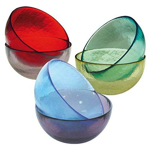 6 coppette in vetro di Murano colori assortiti