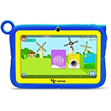 Yuntab Q88R Tablet para niños - Tablet Infantil de 7 Pulgadas Incluye Control Padres iWawa Software niños Pre-instalado ( Android 4.4 , Quad-Core, WiFi, Bluetooth, HD 1024x600, 8GB ROM, Tarjeta TF 32 GB, Doble Cámara, Google Play) (Color azul)