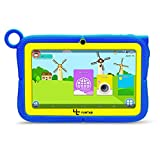 Yuntab 7 Pollici quad core Android Tablet PC Q88R iWawa Kids Learning & Playing App load Google Android 4.4 KitKat 1024*600 HD Touch Screen 512MB RAM 8G ROM Wifi Bluetooth Games doppia fotocamera External 3G, Supporta Play Store Google Youtube, Netflix, Games With Silicone Adjustable Stand Case (Blu)