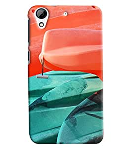Blue Throat Paint Effect Printed Designer Back Cover/ Case For HTC Desire 728