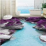 Sproud Große benutzerdefinierte Einfügen 3D Canyon fließende Wasser Boden Aufkleber Anti-Slip Verdickung Wear-Resistant Home Decoration 350 cmX 245 cm