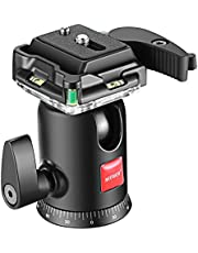 Neewer Camera Video Tripod Ball Head 360 Degree Rotating Panoramic Ballhead with 1/4 inch Quick Shoe Plate and Bubble Level for Tripod Monopod DSLR Camera Camcorder