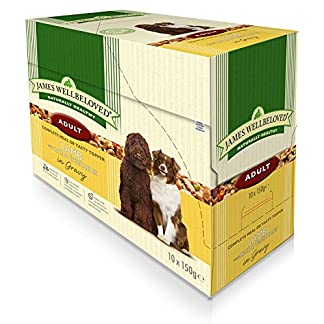 40 x 150g James Wellbeloved Adult Lamb and Rice Pouches Multibuy 3