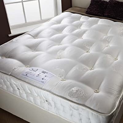 Happy Beds Signature Gold Organic 1800 Pocket Sprung Mattress Bedroom Furniture - inexpensive UK light shop.