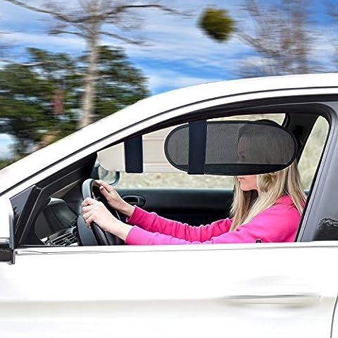 TFY Anti-Blend Autovisier Sonnenblende Verlängerung Sonnenblocker für Autos, Vans und LKWs (Lkw Heckscheibe)