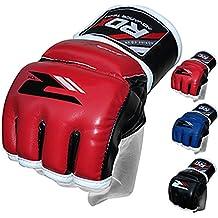 RDX Maya Cuero MMA Guantes Lucha Libre UFC Sparring Entrenamiento Artes Marciales Guantillas Grappling