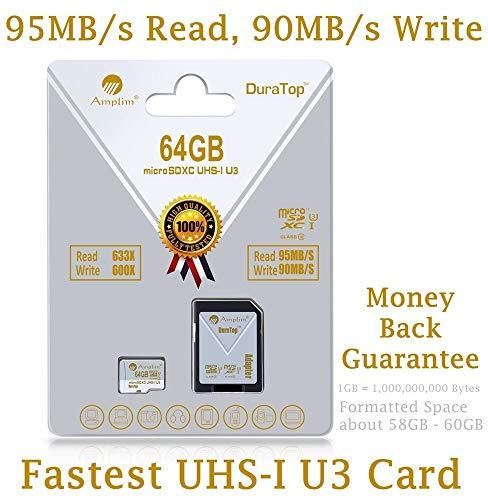 92c2a811f 64 GB Micro SDXC SD U3 tarjeta adaptador de Plus Pack. Amplim Pro Extreme  microSDXC