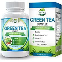 Estratto di tè verde per dimagrire e integrare la dieta, capsule da 1000mg, 15% in più di ECGC rispetto alla concorrenza, integratore ultra potente per perdere peso, forte antiossidante, 120 capsule - Caffeina Erbe Caffè