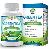 Green Tea Complex for Dieting and Slimming, 1000mg Green Tea Capsules, You Get 15% More ECGC than Other Brands, Maximum Strength Supplement for Fast Weight Loss, Powerful Antioxidant - 120 Capsules
