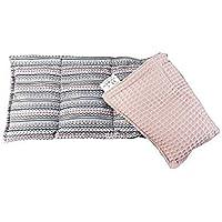 Körnerkissen Wärmekissen Wendekissen Dinkelkissen 100% Baumwolle Indianer Trend/rosé Waffelpiqué 50x20cm