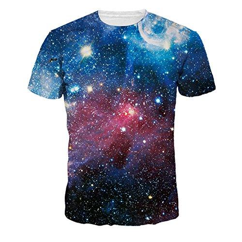 Brillantes De La Galaxia Del Universo Camisetas Bastante Impresa Digital De La Camiseta De Las Mujeres