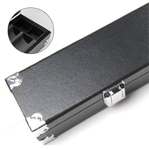 Long Hard Cue Case for 3pc 3/4 Snooker Cue REINFORCED CORNERS Foam Lined 121cm