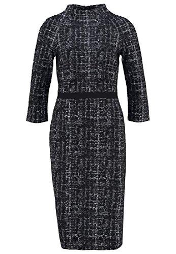 KIOMI Damen Kleid Jerseykleid Abendkleid Schwarz-Weiß Gr.36