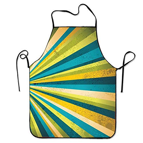 Apron for Baking Crafting Gardening Cooking Durable Easy Cleaning Creative Bib for Man and Woman Standar Size ()