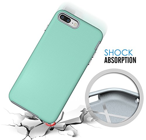 iPhone 7 Plus Hülle, Pasonomi [Rugged Armor] [Dual Layer] Bumper Case Cover Tasche Schutzhülle für Apple iPhone 7 Plus (Schwarz) Mint