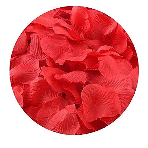 FEITONG 1000pcs Silk Rose Petals Fleur artificielle Confetti Wedding Favor Bridal Shower Aisle Decor (D)
