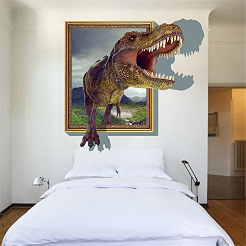GenialES 3D Pegatina de pared Dinosaurios Vinilo Decorativo Adhesivo PVC para Infantiles Dormitorio 60X90cm