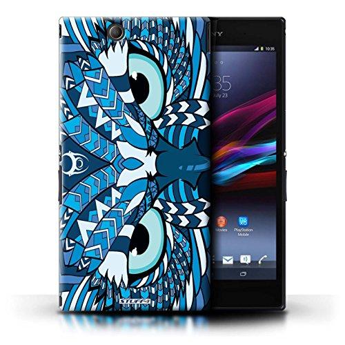 Kobalt® Imprimé Etui / Coque pour Sony Xperia Z Ultra / Loup-Rouge conception / Série Motif Animaux Aztec Hibou-Bleu